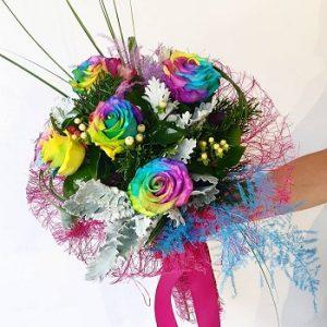Buket šarena ruža