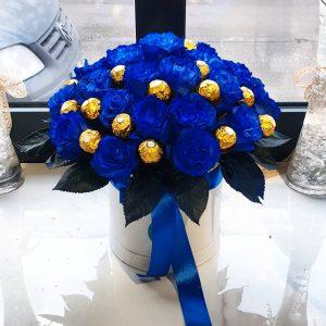 FLOWER BOX PLAVE RUŽE